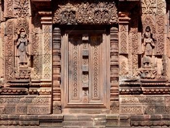 False door, Banteay Srei, 10th century, SIem Reap