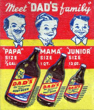 Dad\'s Root Beer matchbook cover