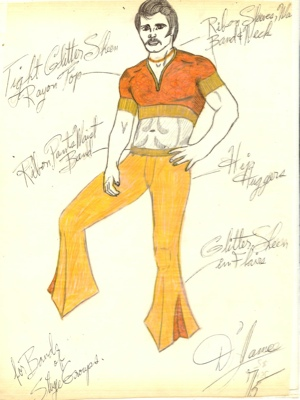 Fashion drawings from the 1970s