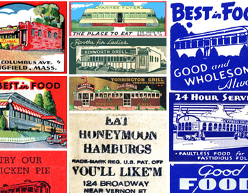 Roadside art: Diner art from matchbook covers