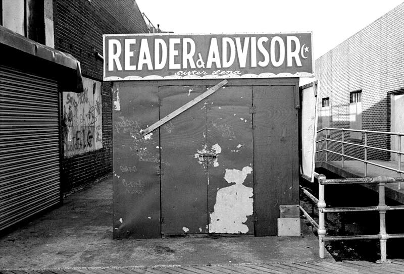 Roadside Art: Sister Lena, Reader and Adviser, Coney Island