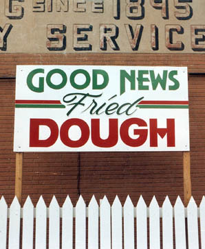 Roadside art: Good News Fried Dough